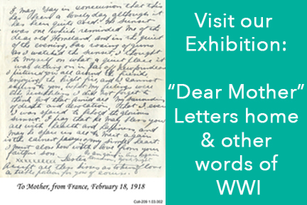Dear Mother: Letters home and other words of WWI
