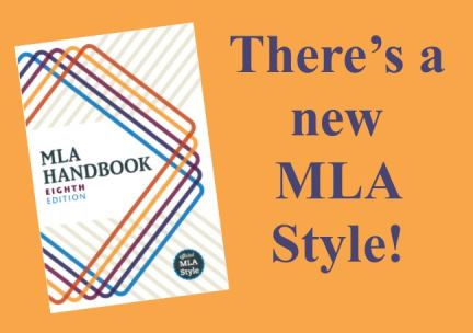 MLA style guide 8th edition