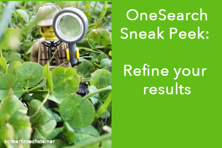 OneSearch refine your results