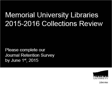 Journal Retention Survey