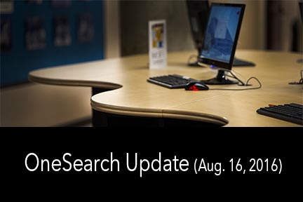 OneSearch Issues Aug 16