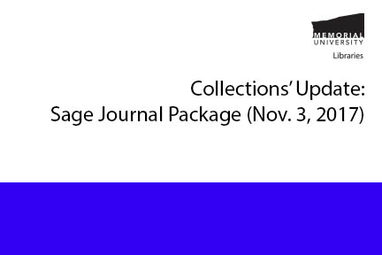 Collections' Update: Sage Journal Package